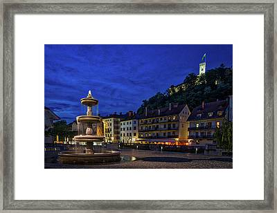 Ljubljana Night Scene #2 - Slovenia Framed Print