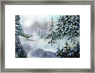 Lket It Snow - Let It Snow Framed Print by Wilfred McOstrich
