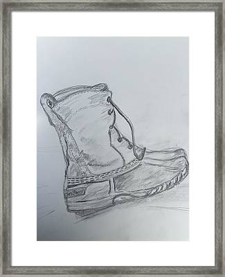 Ll Bean Boot  Framed Print by Chris Howe