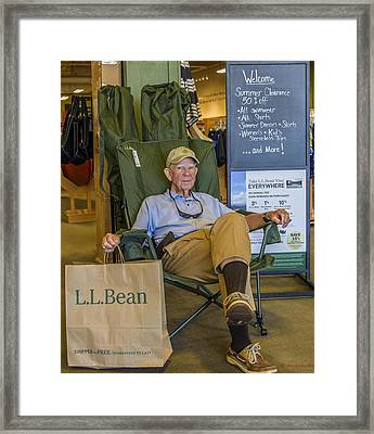 Ll Bean Framed Print by Howard Hackney