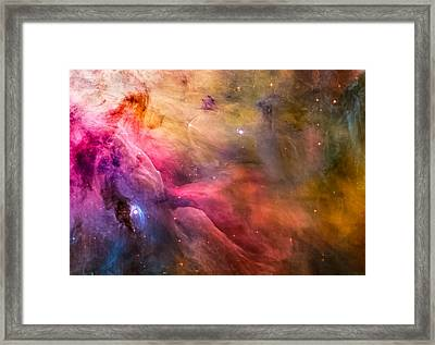 Ll Ori And The Orion Nebula Framed Print by Britten Adams