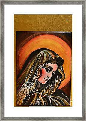 lLady of sorrows Framed Print