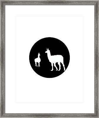 Llamas Framed Print by Mordax Furittus