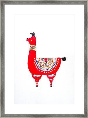 Llamita Framed Print by Sarah DuBree