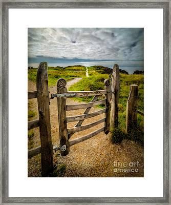 Llanddwyn Island Gate Framed Print by Adrian Evans