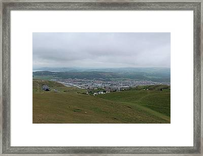 Framed Print featuring the photograph Llandudno View by JLowPhotos