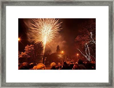 Llanelli Fireworks Framed Print