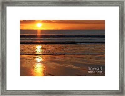 Llangennith Beach Sand Textures Framed Print