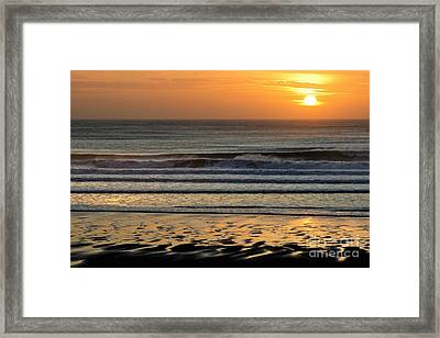 Llangennith Gold Reflections Framed Print