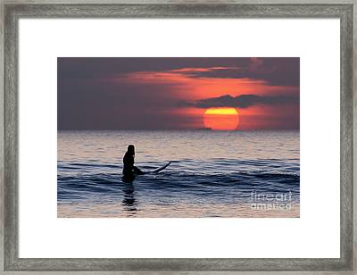 Llangennith One More Wave Framed Print