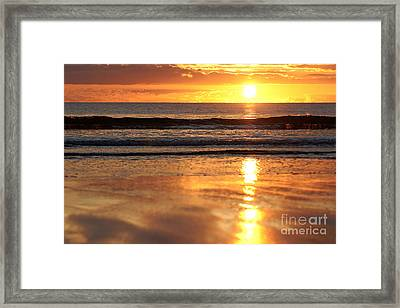 Llangennith Sundown Framed Print