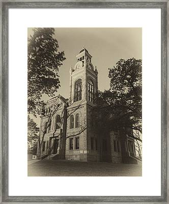 Llano County Courthouse - Vintage Framed Print by Stephen Stookey