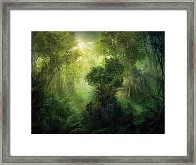 Llanowar Reborn Framed Print by Philip Straub