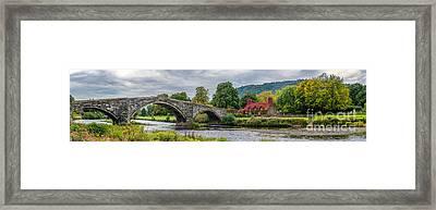 Llanrwst Bridge And Tea Room Framed Print