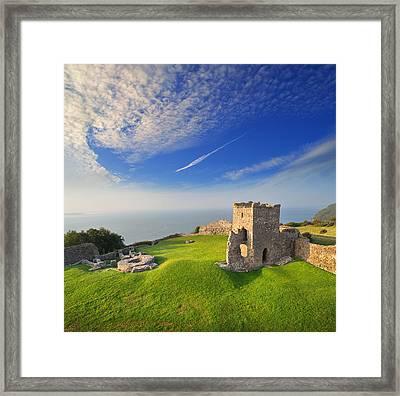 Llansteffan Castle 2 Framed Print