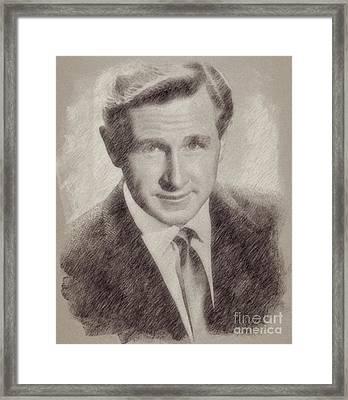 Lloyd Bridges Hollywood Actor Framed Print