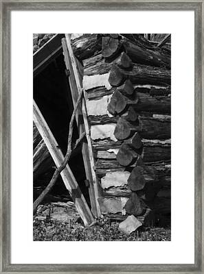 lloyd-shanks-barn-3BW Framed Print by Curtis J Neeley Jr