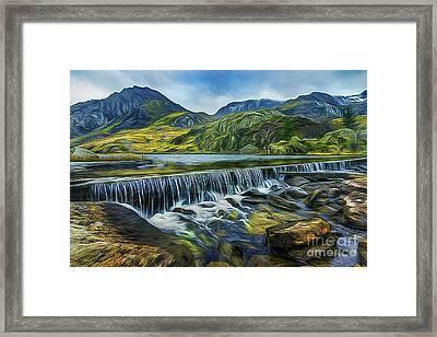 Llyn Ogwen Weir And Tryfan Framed Print