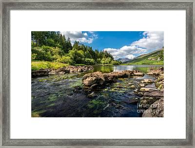 Llynau Mymbyr Lakes In Snowdonia Framed Print