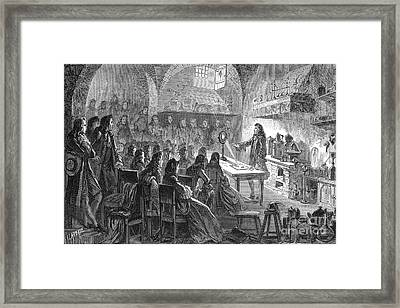 L�mery Demonstrating Chemistry In Paris Framed Print by Science Source