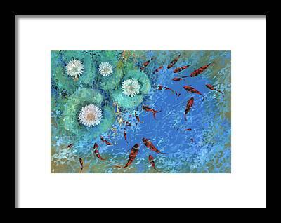 Golden Pond Framed Prints