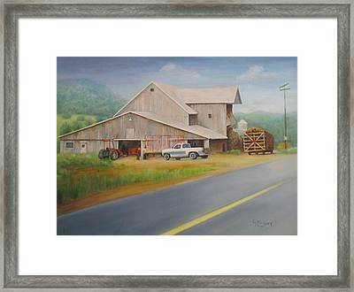 Load Of Hay Framed Print by Oz Freedgood