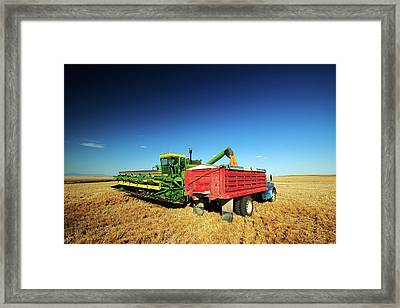 Load Of Wheat Framed Print