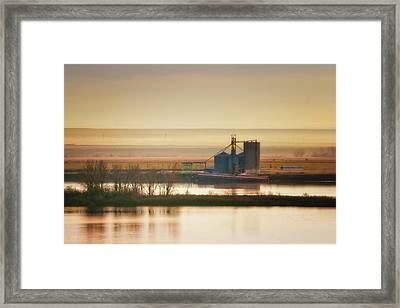 Framed Print featuring the photograph Loading Grain by Albert Seger