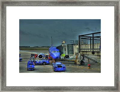 Loading Luggage Framed Print