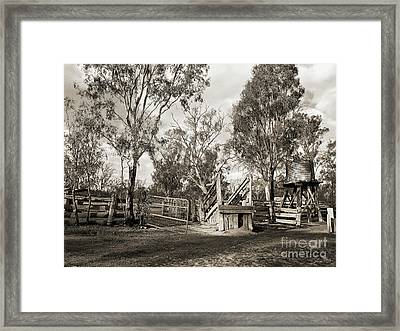 Framed Print featuring the photograph Loading Ramp by Linda Lees