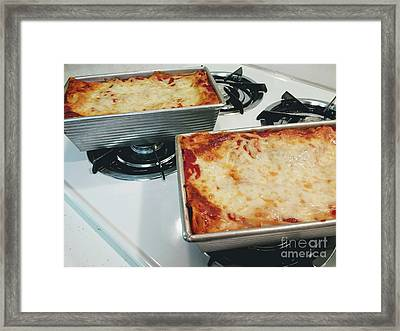 Framed Print featuring the photograph Loaf Pan Lasagna 1 by Andee Design