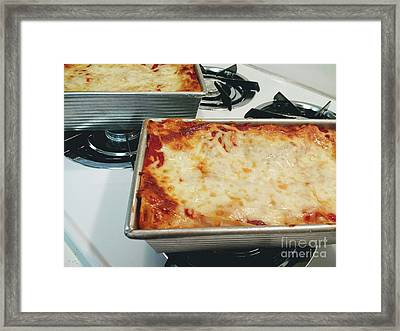 Framed Print featuring the photograph Loaf Pan Lasagna 2 by Andee Design