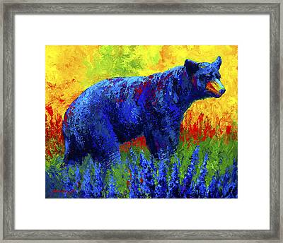 Loafing In The Lupin Framed Print by Marion Rose
