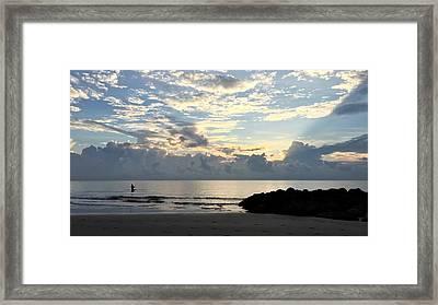 Lone Fishing Framed Print