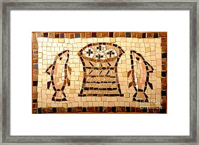 Loaves And Fishes Mosaic Framed Print by Lou Ann Bagnall