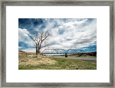 Lobato Bridge In Colorado Framed Print by Mary Lee Dereske
