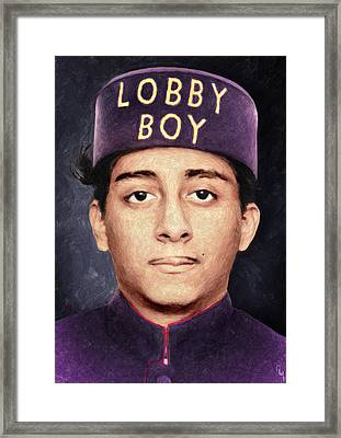 Lobby Boy - Grand Budapest Hotel Framed Print by Taylan Apukovska