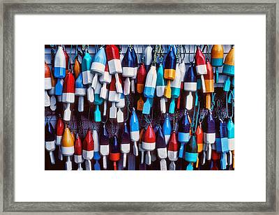 Lobester Trap Bouys Framed Print