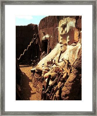 Lobi Altar 1999 Framed Print by Huib Blom