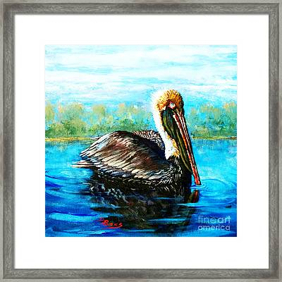 Framed Print featuring the painting L'observateur by Dianne Parks