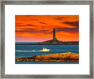 Lobster Boat Cape Cod Framed Print by Randall Branham