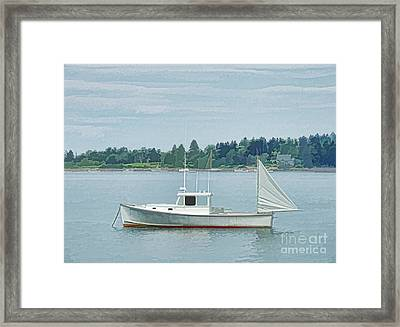 Lobster Boat Harpswell Maine Framed Print