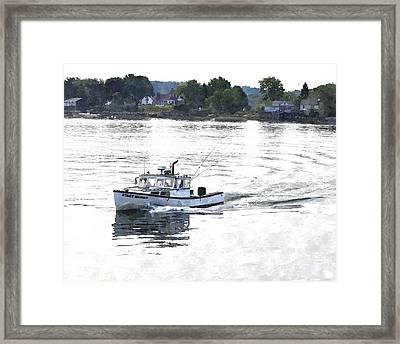 Lobster Boat Lbwc Framed Print