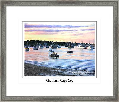 Lobster Boats At Twilight Cape Cod Framed Print by Daphne Sampson