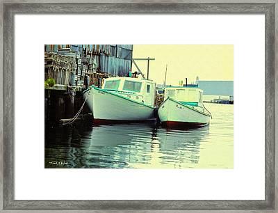 Lobster Boats Framed Print by Frank Wilson