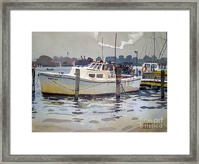 Lobster Boats In Shark River Framed Print by Donald Maier
