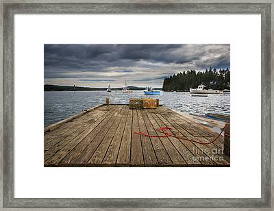 Lobster Boats Of Winter Harbor Framed Print