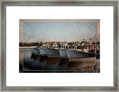 Lobster Boats Framed Print