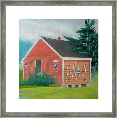 Lobster Buoy Shack Framed Print