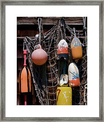 Lobster Buoys II - Rockport Framed Print by David Gordon